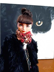 Iziou at the vernissage (NylonBleu) Tags: ever after high monster ooak repiant nylonbleu