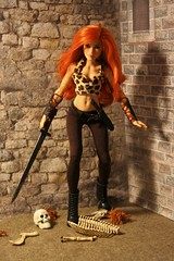 Tharna the brave! (Mike's Toy Story) Tags: redhead hot mattel wwf becky lynch tharna barbie doll dolls superstars red warrior shewarrior female warriors barbarians fantasy dungeons dragons dd add
