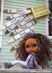 Farah (Motor City Dolly) Tags: dolls color black blythe custom ooak wensleydale reroot motor city dolly coedependent