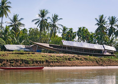 Laotian coasts / En passant : côtes laotiennes (rs.Sophie) Tags: water river outdoor outside way canon eos boot palmtree palmier landscape green red silence abandoned abandon ruin travel laos coasts coast home mobility transport tourist visit
