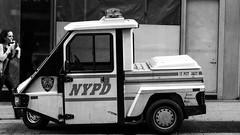 (Simon BOISVINET) Tags: 2012 newyork voyage étatsunis police car nypd street blackandwhite photography 3617