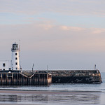 Scarborough pier and lighthouse. thumbnail