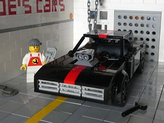 Dodge Charger in Black (2/2) (captain_j03) Tags: toy spielzeug 365toyproject lego minifigure minifig moc car auto 7wide dodge charger brickverse