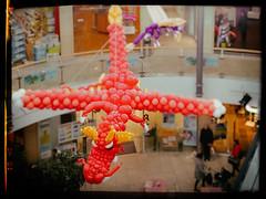 Dra·che (michael_hamburg69) Tags: hamburg germany deutschland tibarg tibargcenter mall einkaufscentrum luftballons balloon ballontier ballontiere ausstellung magischeballonwelten event drache dragon balloondragon niendorf