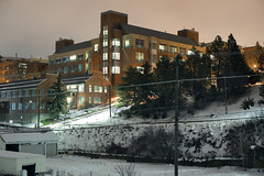 WSU School of Mechanical and Materials Engineering (Curtis Gregory Perry) Tags: pullman washington wsu school mechanical materials engineering university state night building longexposure snow winter cold nikon d810