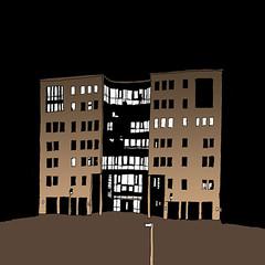 Overtime, Technologie Park, Karlsruhe, January 2019 (stevefaradaysketches) Tags: urbansketch urbansketchers usk inkdrawing illustration onlocation office nightscene nightshift businesspark technologiepark karlsruhe