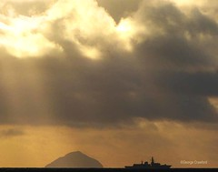 Ailsa Craig & Naval Vessel (g crawford) Tags: saltcoats ayrshire northayrshire ailsacraig clyde forthofclyde navy warship crawford