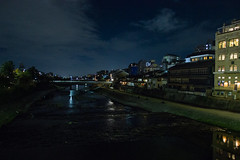 Kamogawa (stephanexposeinjapan) Tags: japon japan asia asie stephanexpose kyoto ville city night river rivière canon 600d 1635mm nuit eau water