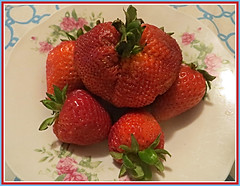 Strawberries Anytime (bigbrowneyez) Tags: strawberries fruit juicy delicious plateful bowlful bright sweet tasty dolce frutti nature natura belli buone fragole redberries red rosse beautiful stilllife delicate fresh favourite tuttifrutti breakfast lunch dinner dessert snacks whippedcream strawberriesanytime