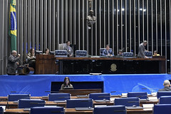 Plenário do Senado (Senado Federal) Tags: plenário senadorpaulopaimptrs senadorreguffesempartidodf sessãonãodeliberativa bandeiranacional brasília df brasil bra