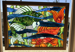 Stained Glass (ruthlesscrab) Tags: hww window wednesday stainedglass fish