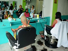 Forced bowlcut (funhaircut.com) Tags: forced haircut barbershop girl woman lady punishment barber shaving headshave bowlcut bangs haircutting