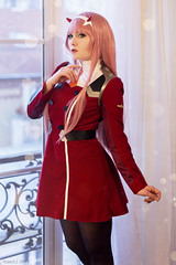Zero Two - Darling in the FranXX (Florent Joannès) Tags: shooting shoot photo photography portrait photographie modeling mode makeup paris zerotwo darling franxx irina 002 50mm 2019 cosplay