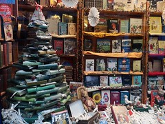 On the Last Day of Christmas... (mcginley2012) Tags: windowdisplay christmastree books cameraphone p20pro huaweip20pro galway ireland