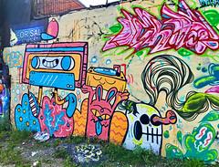 Cassette Culture by Blake Jones (wiredforlego) Tags: graffiti mural streetart urbanart aerosolart publicart chicago illinois ord blakejones