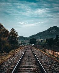 Rail Way (kmedhi889) Tags: trainline nature tree hill sky clouds scenari assam india northeast asia nikon nikond5600 35mm f18