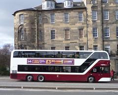 Lothian 1077 at Gayfield Place, Edinburgh. (calderwoodroy) Tags: 1077 enviro400xlb alexanderdennis adl b8l volvo edinburghtransport transportforedinburgh lothianbuses lothiancity lothian lothianbusescentenary lothian100 doubledecker bus gayfieldplace leithwalk edinburgh scotland uk