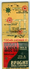 Des Moines, Iowa, Bright & Beck Drug Company, Matchbook (photolibrarian) Tags: desmoinesiowa brightbeckdrugcompany matchbook 1940s