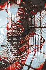 Spiral (Peter Rea 13) Tags: art artistsontumblr abstract biutifulpics d300s design experimental gradient imiging lensblr lightisphotography multipleexposure metal nikon luxlit originalphotographers originalphotography photographersontumblr peterreaphotography photography pws p58 red blue streetphotography submission iceland telescopical triple urban ycphotographs xonicamagazine spiral staircase