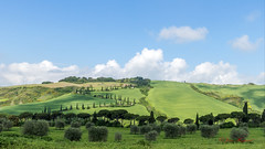 JH - IMG_1078 A (visionspartageesjh) Tags: toscane italie olivier cyprès chemin paysage ciel nuage tuscany val dorcia cipressi path landscape sky cloud campagne campaign sentiero cielo paesaggio nuvola