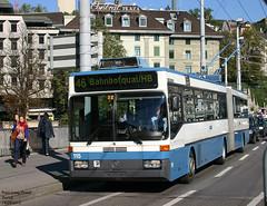 Zurich trolleybus 115 (pretsend (jpretel)) Tags: mercedes 0405gtz trolleybus zurich vbz gelenkbus