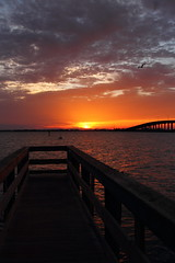 SUNRISE (R. D. SMITH) Tags: dawn water clouds canoneos7d indianriver florida sunrise morning orange pier