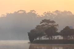 Good morning!!! (longvk91) Tags: lake vietnam dalat morning landscape golden hoxuanhuong travelvietnam