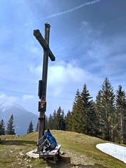 At the summit (aniko e) Tags: summit gipfel summitcross hiking outdoors farrenpoint badfeilnbach bavaria bayern germany walking spring snow
