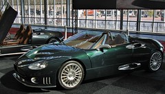 (Uno100) Tags: spyker cars laviolette c 8 spyder green silver interiour amsterdam international motor show 2019 2001 front back door 2