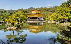Kinkaku-ji or Golden Pavilion (FlickrDelusions) Tags: kyoto rokuonji goldenpavilion japan kinkakuji kytoprefecture kyōtoprefecture jp reflections lake