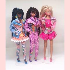 Barbie #barbie #90s paint 'n dazzle • colori e gioielli 1993 (simone.cacciatore) Tags: coloriegioielli paint'ndazzle 1993 brunette christie barbie 90s