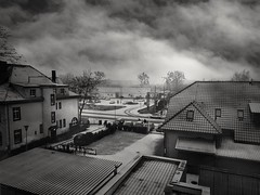 Cloudy day (wojciechpolewski) Tags: cloudyday rainyweather rainyday rain winter coldweather buildings cityscape landscape city town urban urbanexplorer urbanlandscape streetphotographer streetexploration streetview street streetphoto streetphotography streetlife streetsnap monochrome monochromatico monotone blackandwhite blancoynegro blackwhite blanconegro photo photos kedzierzynkozle poland polska wpolewski