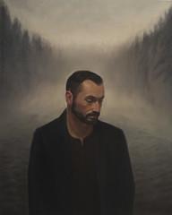 Sylvain in the mist (Ala(i)n Marcus) Tags: oil huile teken schilderij forest mist portrait canvas painting art figurative