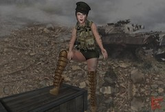 In an army now! (Sweet.Bliss) Tags: abfab iconic iconichair justice moda monsterlabs thecrazygi secondlife marketplace urbanscene mud lelutka lelutkagreer maitreya