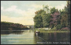 c. 1908 Postcard View - Recreation on the Humber River at Toronto, Ontario, Canada (Treasures from the Past) Tags: postcard humberriver torontoontario ontario canada boat rowing toronto