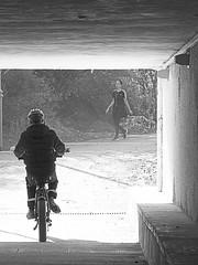 Sacher Park Tunnel B&W-1 (zeevveez) Tags: זאבברקן zeevveez zeevbarkan canon bw people sacherpark