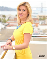 Emily Turner (billypoonphotos) Tags: kpix5 cbs cbs5 reporter anchor billypoon billypoonphotos san francisco bay area news photo portrait picture broadcaster broadcasting bio nikon nikkor d5500 mm lens media twitter facebook pretty girl lady woman dress tv television journalist instagram weather weathercaster emily turner yellow 35mm 35