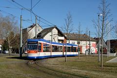 Heag ST13 9867 Darmstadt-Kranichstein (BahnFan99) Tags: heag mobilo mobitram st13 wagen 9867 strasenbahn darmstadt niederflurwagen niederflurstrasenbahn tram tramway strasenbahnlinie 5 kranichstein bahnhof wendeschleife schleife endhaltestelle endstelle einrichtungswagen lhb adtranz neubaustrecke gelenkwagen