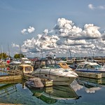 Prescott Ontario - Canada -  Sandra S Lawn Harbour  and Marina - Reflection thumbnail