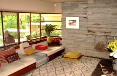 Living Room in Guest House at Fallingwater (Joseph Hollick) Tags: fallingwater flw franklloydwright pennsylvania livingroom guesthouse