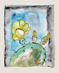 Happy spring to you all! (DeGrazia Gallery in the Sun) Tags: teddegrazia degrazia ettore ted artist nationalhistoricdistrict galleryinthesun artgallery gallery adobe architecture tucson arizona az santacatalinas desert watercolor painting spring flores flowers cactus blooms desertblooms