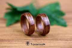 Alliances de mariage en Acajou (Taamak) (Taamak jewerlry) Tags: abre artisanat nature natural macro été engament beauty ring wedding wood mode bague bijou bijouterie fiancailles couple photographer photography