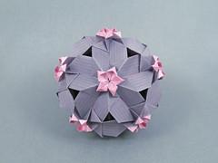no name var. (masha_losk) Tags: kusudama кусудама origamiwork origamiart foliage origami paper paperfolding modularorigami unitorigami модульноеоригами оригами бумага folded symmetry design handmade art