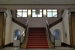 Treppe mit Türen (Sockenhummel) Tags: treppe treppenhaus stairway staircase stairwell architektur architecture halle eingangshalle steps stufen escaliers freitreppe fenster