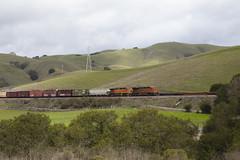 Through the Green Hills (II) (imartin92) Tags: christie california bnsf railroad railway freight train ge generalelectric gevo dash9 c449w es44ac locomotive