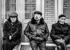 MeetingBridge2.jpg (Klaus Ressmann) Tags: omd em1 china klausressmann peoplestreet ruiancounty winter xuao blackandwhite candid flcpeop man streetphotography unposed omdem1