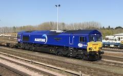 66142, Eastleigh, April 10th 2019 (Southsea_Matt) Tags: 66142 class66 maritime emd gm dbs ews diesellocomotive eastleigh hampshire england unitedkingdom april 2019 spring iphone7 train railway railroad transport vehicle
