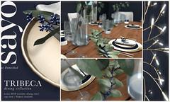 SAYO Tribeca Dining Collection @ Fameshed January 2019 (Kayami Osakki (SAYO)) Tags: sayo secondlife dining midcentury modern unique berries winter tribeca home house decor