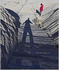 Long Shadow (Runemaker) Tags: dl patricia shadow hiking whiterocks snowcanyon statepark utah sandstone mountains landscape nature cliffs runemaker nikon d750