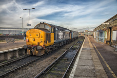 403 at Great Yarmouth. (Octopus P Scott) Tags: class37 drs tractors 37407 37403 train locomotive diesel